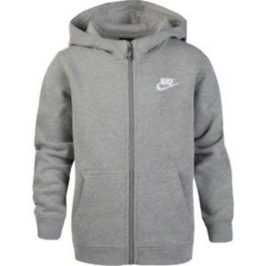 Nike Club Full Zip Hoodie Jr Boys XL Grey